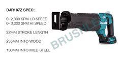 MAKITA DJR187Z SPEC Makita Power Tools, The Best, Steel, Blog, Iron
