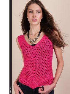 ... trico on Pinterest | Crochet Tops, Crochet Blouse and Crochet Shirt