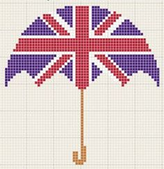 FREEBIE- English umbrella cross stitch pattern