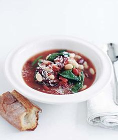 Minestrone Soup Get the recipe:  http://www.realsimple.com/food-recipes/browse-all-recipes/minestrone-10000001536107/index.html