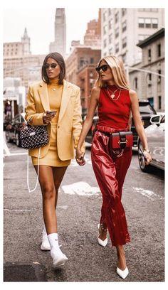 Simple Street Style, Look Street Style, Street Style Women, Daily Street Style, Uñas Fashion, Trendy Fashion, Fashion Outfits, Womens Fashion, Fashion Trends