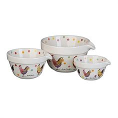Measuring Jugs & Mixing Bowls - Briscoes - Churchill Measure Cup Set Gift Box Alex Clark Rooster