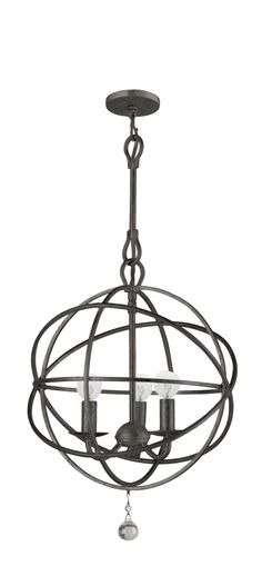 Solaris Chandelier by Crystorama | 9225-EB lightology
