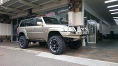 """Nissan Patrol 6 """" lift on 35 """"Maxxis by Works Ermelo Nissan Patrol, Elvis Presley, Rigs, 4x4, Toyota, Camping, Campsite, Wedges, Campers"""