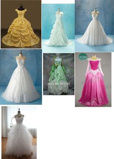 """imagine wearing one of the Disney princesses dress to your wedding"" by cheyennemalina-marie-jones ❤ liked on Polyvore"
