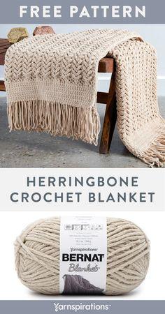 Blanket Yarn, Knitted Blankets, Crochet Blankets, Modern Crochet Blanket, Chevron Blanket, Afghan Crochet Patterns, Knitting Patterns, Crochet Afghans, Crochet Blanket Stitches