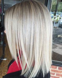 Blonde Layered Lob