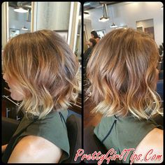 @prettygirltips layered messy bob hairstyle for thick hair