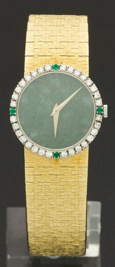 2ac3ef3cd1c Piaget Lady s Gold Wristwatch With Jadeite Dial