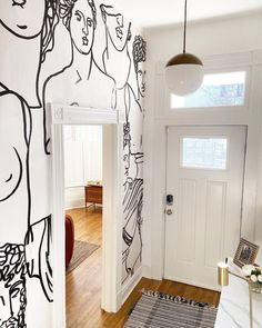 Introduce a quirky new style to your space that explores a popular interior trend with this unique Black Line Drawing Greek God Statue Pattern Wallpaper Mural. Created with intricate line drawings to form busts of Greek Gods, the minimal and neutral tones add a fresh feel to the design that will help complete the contemporary feel of your space. Hallway Wallpaper, Photo Mural, Historic Homes, Pattern Wallpaper, Line Drawing, Decoration, Townhouse, Family Room, Marie Antoinette