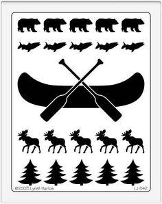 canoe stencil - Recherche Google