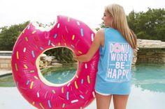 """Donut Worry Be Happy"" Tank - Jadelynn Brooke"