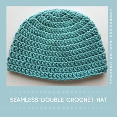 Seamless Double Crochet Bulky Hat - free pattern in all sizes at Oombawka Design.