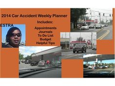 2014 Car Accident Weekly Planner by ESTRA.  Available at ESTRA Official Website & eBay