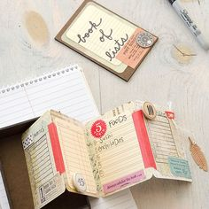 Book of Lists Project by Christen Olivarez - Stampington