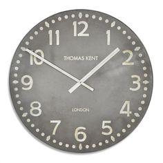 "Thomas Kent Wharf Clock 30"" - extra large industrial wall clock"