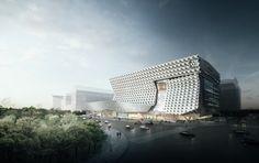 Kolon Corporate HQ by Morphosis in Seoul, South Korea