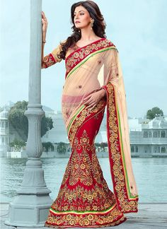 Red and Gold Saree.