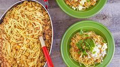 Chicken Chili Cowboy Spaghetti Recipe - Good recipe when taking others a meal