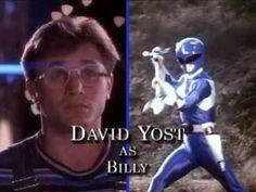 David Yost as Billy - Mighty Morphin Power Rangers Zack Power Rangers, Mighty Morphin Power Rangers, Dankest Memes, Funny Memes, Hilarious, David Yost, Walter Jones, Opening Credits, Theme Song
