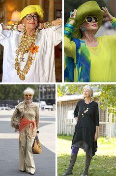 Вдохновляющий стиль бохо в одежде для пожилых дам - великолепный способ самовыражения, который не подвержен никаким возрастным рамкам. Наслаждайтесь! Funky Fashion, 50 Fashion, Fashion Dresses, Advanced Style, Cool Style, My Style, Aging Gracefully, Diy Clothes, Pretty Woman