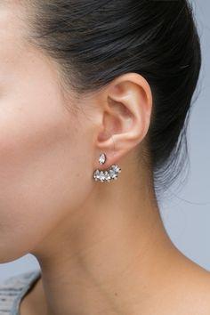 double sided chandelier earrings
