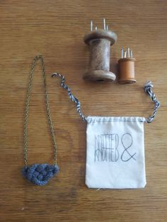 French Knitted Hand Knotted Woollen Necklace by StuffedNonsenseUK, £10.00