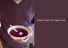 Purple Carrot and Apple Soup
