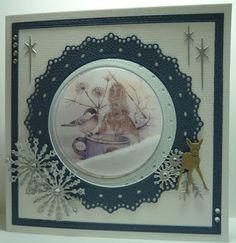 Christmas 2019, Christmas Cards, Marianne Design, Reuse, Decoupage, Decorative Plates, Chickadees, Card Ideas, Scrapbooking