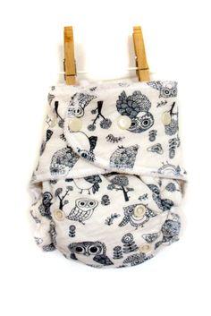 Adorable owl cloth diaper