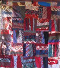 Vintage Quilt Strip Vibrant Colorful Excellent Shape Mens Ties Silk Shirts