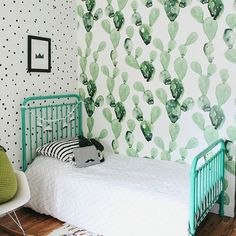Cacti are cool. And we're feeling ALL the cool vibes in this shared nursery/big kid space from @themckeens.