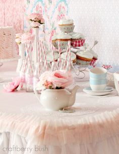 A shabby chic tea party...