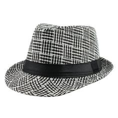 73e4050ed61 Trendy Unisex Side Fedora Trilby Gangster Cap For Women men Summer Beach  Sun Straw Panama Hat Men Fashion lattice Hats