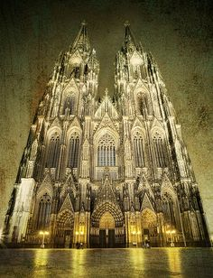 Kölner Dom / Cologne Cathedral - fantastic photo by Joerg Dickmann. One of the most amazing places I have ever seen. Sacred Architecture, Church Architecture, Beautiful Architecture, Gothic Cathedral, Cathedral Church, Old Churches, Amazing Buildings, Jolie Photo, Place Of Worship
