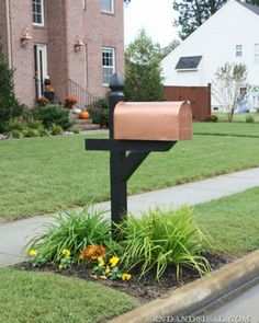 Give your mailbox an upscale copper look for less than $5. | 20 Easy Home Upgrades for Under $50