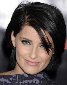 Short Brunette Hairstyles Pinjustin Shaquille On Bangs Covering Both Eyesblinding Bangs