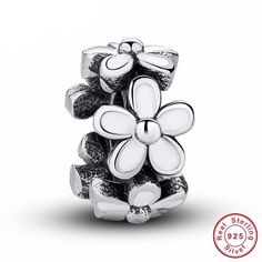 Cheap charms fit pandora, Buy Quality gift charm directly from China charm charm Suppliers: Darling Daisy Spacer, White Enamel Lovely Warm Gift Charms Fit Original Bracelet necklace Pure 925 Silver Beads Silver Beads, Silver Charms, Charm Jewelry, Jewelry Gifts, Charm Bracelets, Diy Jewelry, Jewelry Accessories, Fitness Bracelet, White Enamel