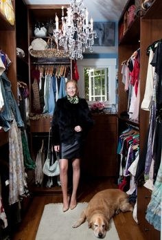 Supermodel Maggie Rizer in her enviable closet/treasure trove #celebrity #closet