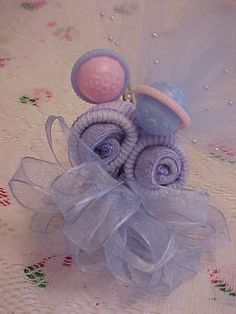 grandmother baby showers | Sock Corsage for Baby Shower Mother to be, grandmother, New Handmade ...