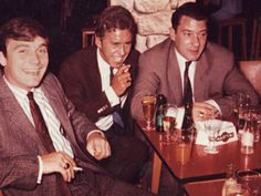Ronnie Kray with friends.