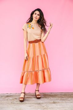 Matilda Jane Clothing | Women | March | New Arrivals | Fashion | Women's Fashion | Spring | Summer | Skirt | Embroidery Skirt Embroidery, Dress Outfits, Girl Outfits, Jane Clothing, Matilda Jane, Traditional Dresses, Spring Summer Fashion, Fashion Women, Midi Skirt