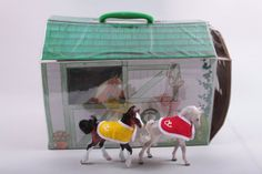 Grand ChampionsVinyl House Stable Playset Two Fillies Ponies Pony Horse Empire Industries  The Pink Room  by ThePinkRoom