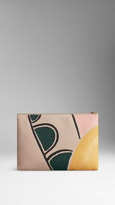 Large Hand-Painted Leather Beauty Wallet   Burberry