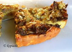 Sausage and Onion Tart with Easy Corn Meal Crust on Foodie