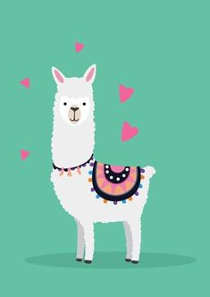 Alpacas, Llama Drawing, Wallpaper Nature Flowers, Llama Arts, Llama Birthday, Cute Llama, Kawaii Doodles, Sketch Inspiration, Cute Cartoon Wallpapers