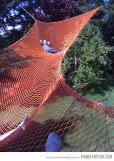 I've never wanted anything more in my life…GIGANTIC HAMMOCK!!