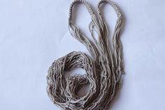 Beige Handmade Grocery Tote  Market Bag  String by karmaistanbul