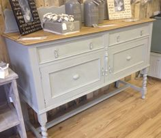 barley twist sideboard painted in Autentico After Rain