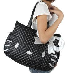 Black & White Kitty Shoulder Bag